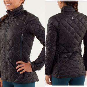 LULULEMON Run: Turn Around Black/Grey Jacket